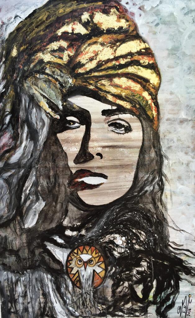Hagar 628x1024 - Women in Suzi Nassif Paintings