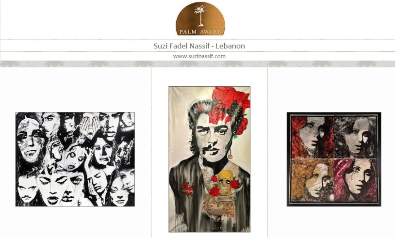 11 - Suzi Nassif- The Proud Nominee for Palm Art awards 2016