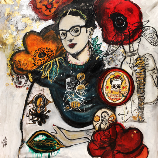 Frida in Suzi Nassif Paintings