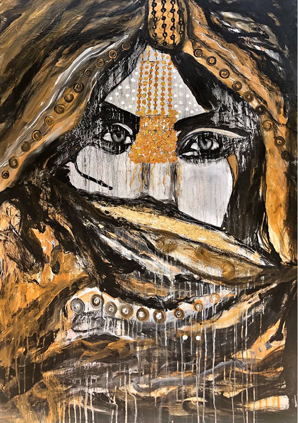 THE QUEEN OF A DESERT 100X85CMS - VIP South Terminal Dubai EXHIBITION